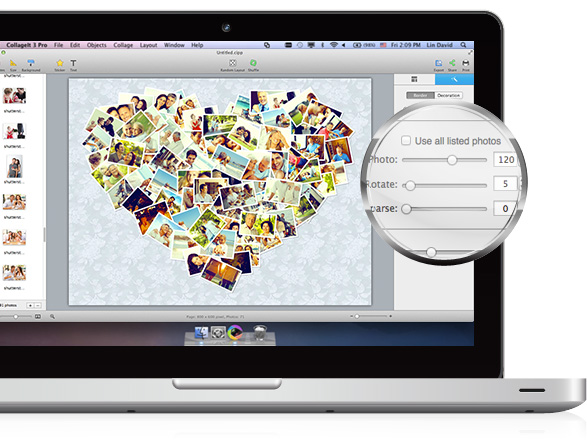 Make a photo grid easily on Mac