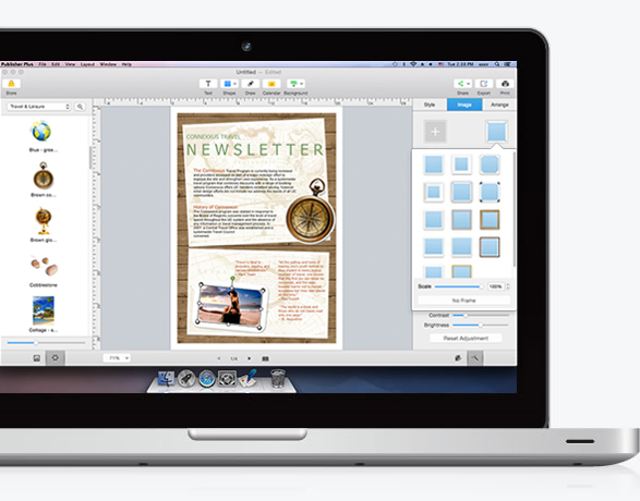 Make a publisher easily on Mac