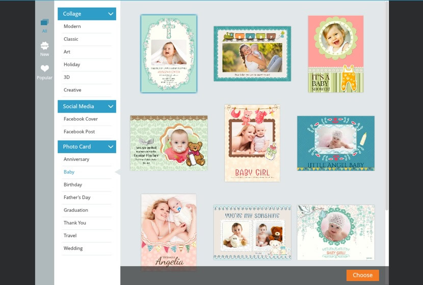 Choose a baby shower invitation template