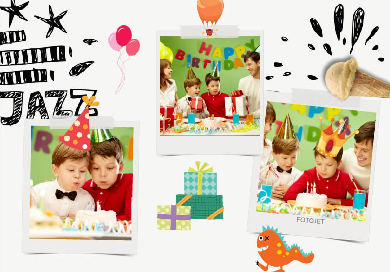 Children birthday collage