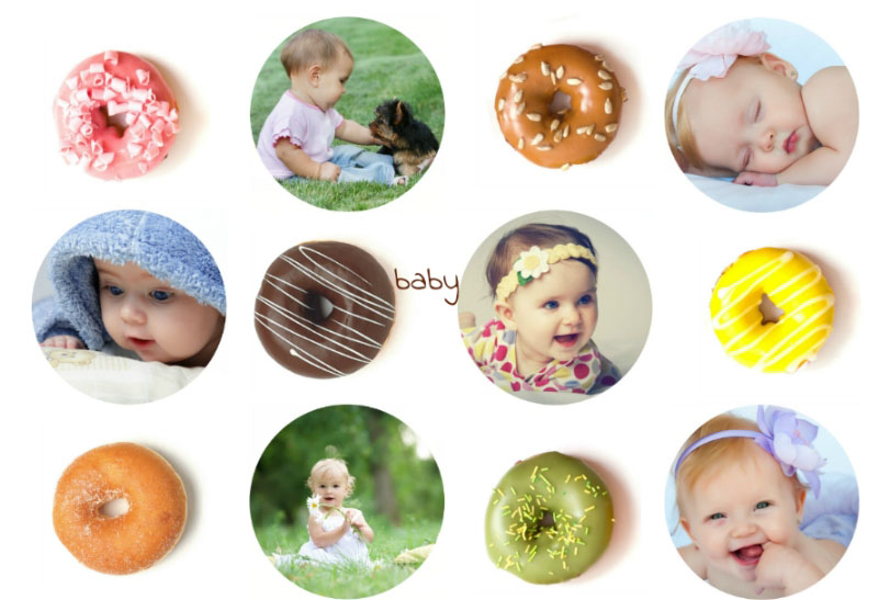 Creative baby collage ideas