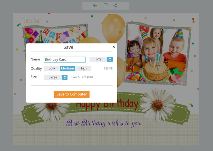 Its Super Easy For You To Make Some Free Printable Birthday Cards With FotoJet Your Recipients Who Will Keep Amazing Gifts Forever