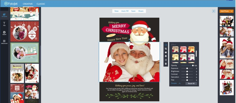 add Christmas photos