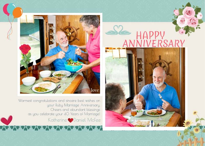 Print Anniversary Card  Print Anniversary Card