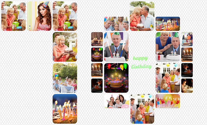 70th birthday collage