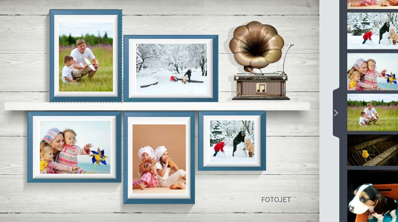 Family collage template