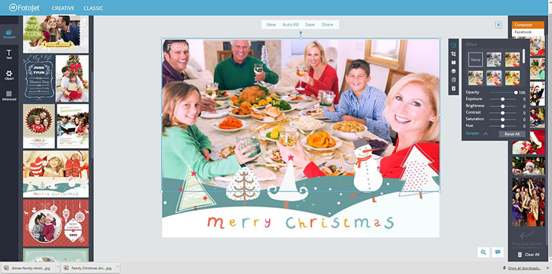 add peasonal christmas photos