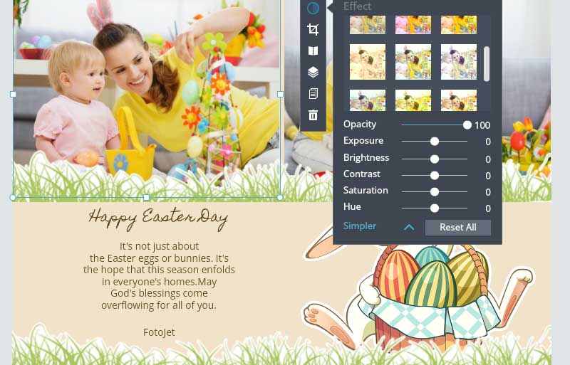 Edit Easter cards