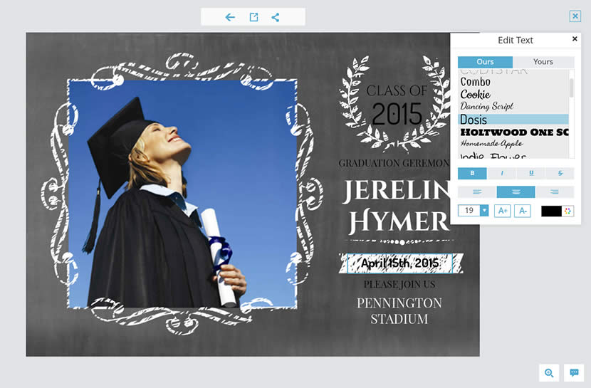 send free graduation invitation cards made online to announce your