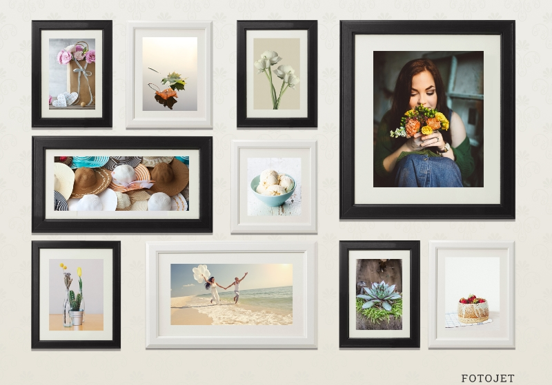 Template wall photo collage