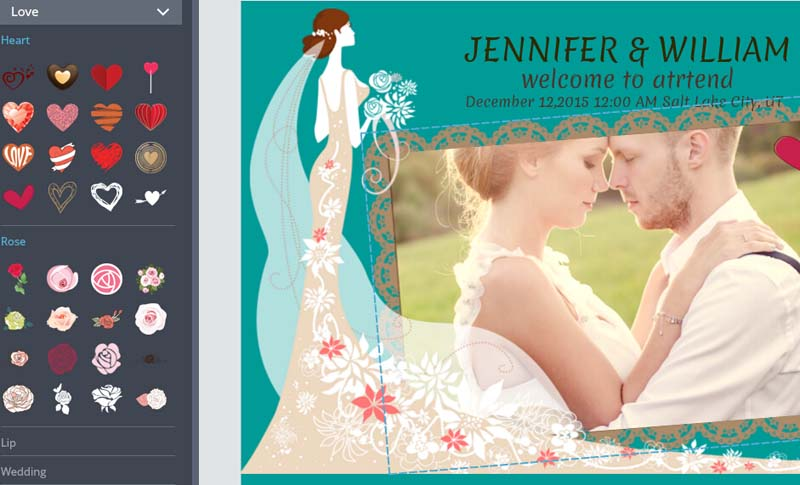 Edit wedding invitation card
