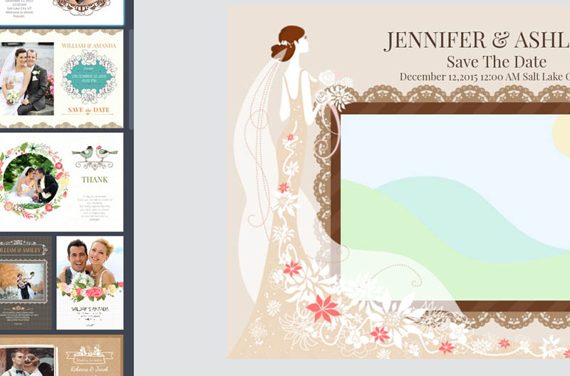 Choose a wedding invitation card template