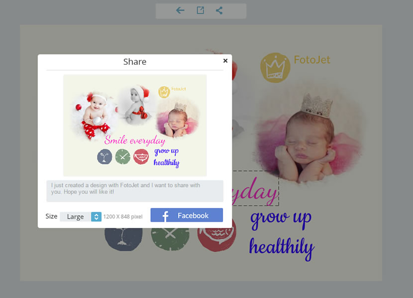 share baby collage