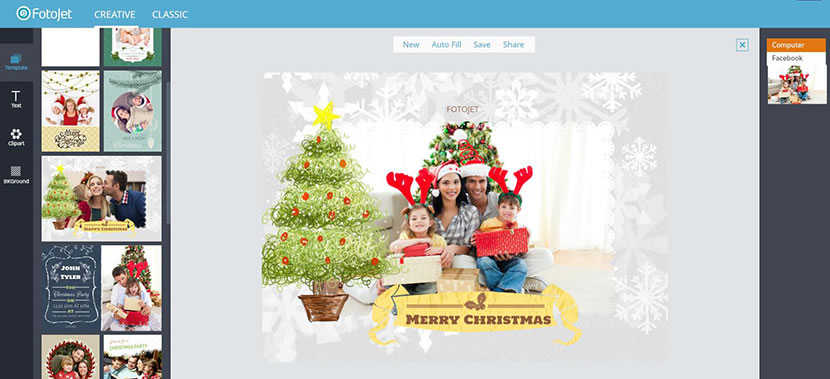 customize a christmas card online free