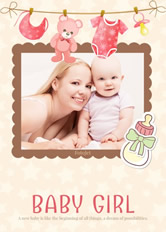 baby shower invitation for girl