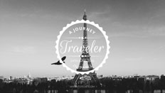 Black and White Eiffel Tower YouTube Banner