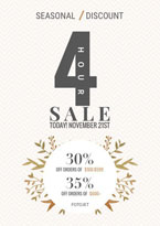 clothing season sale poster