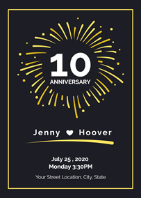 10th Anniversary Invitation