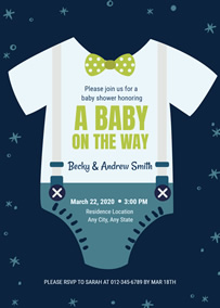 Swaddling clothes baby shower invitation
