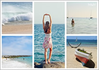 beautiful beach collage