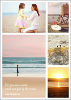 family beach collage