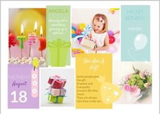 birthday greeting card for girl