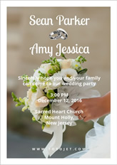 Wedding collage poster