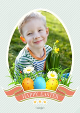 easter eggs photo card