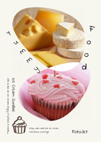 sweet food collage