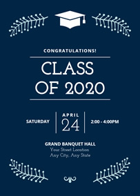 Graduation party invitation card