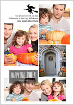 family halloween photo collage