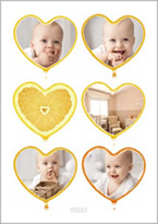 baby photo heart collage