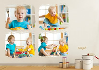 kids photo collage wall