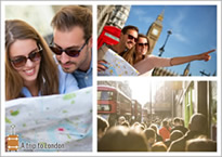 travel London collage