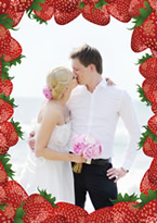 strawberry photo frame