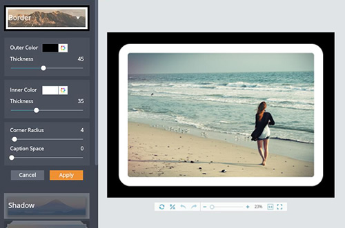 Add Photo Frames to Your Photos Online | FotoJet