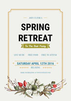 party spring retreat poster
