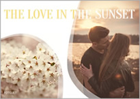 romantic sunset collage