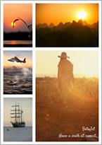 beautiful sunset collage