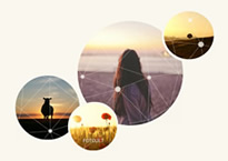pleasant sunset collage
