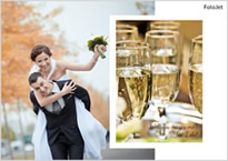 celebrating wedding collage