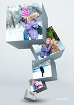 3D winter collage