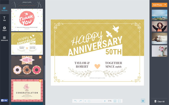 Anniversary Cards - Make Printable Anniversary Cards Online | Fotojet