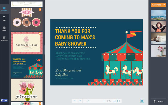 Baby Cards Make Free Printable New Baby Cards Online – Free Online Baby Announcements