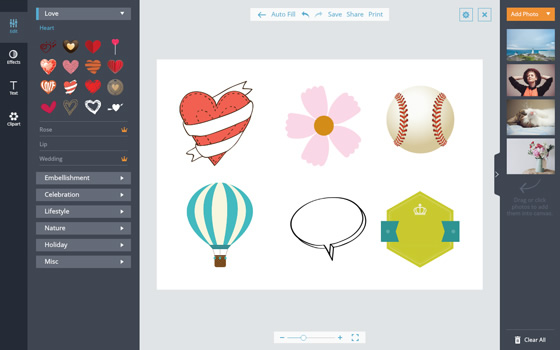 Online Clipart - Add Cliparts to Photo Designs for Free | FotoJet
