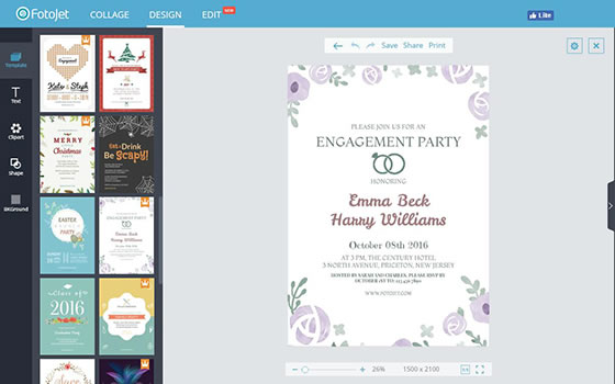 Engagement invitation