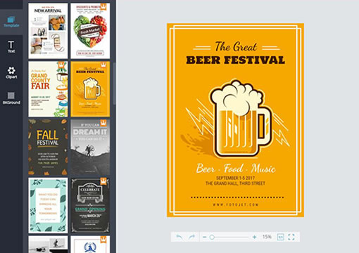 design your own festival posters online for free