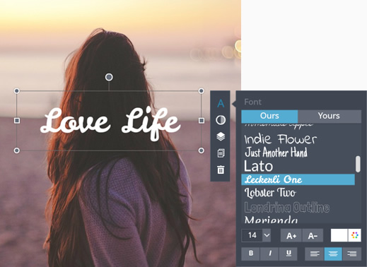 Photo image text editor online