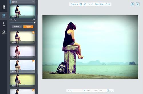 online photo filter editor