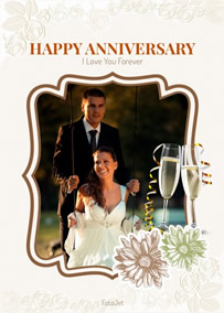 Warm anniversary card